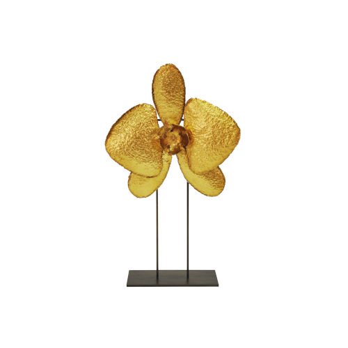 Gold Leaf 20-Inch Orchid Decorative Object