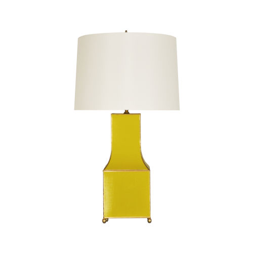 Yellow and Gold Table Lamp