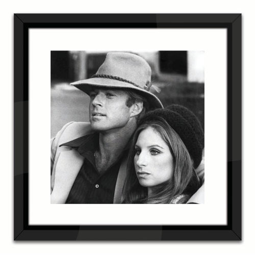 Black Lacuquer Robert Redford and Barbara Streisand Wall Frame