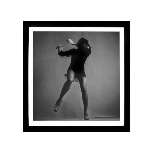 Black Lacuquer and White Tina Turner Wall Frame