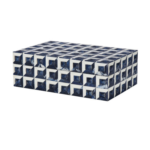 Blue and White Bone Decorative Box