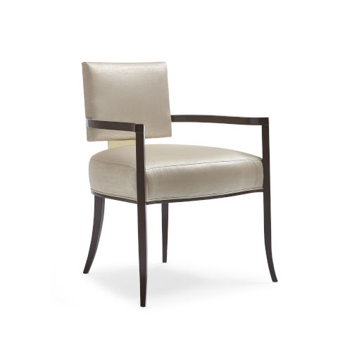 Classic Beige Reserved Seating Arm Chair