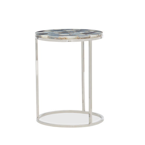 Classic Silver Star Bright End Table