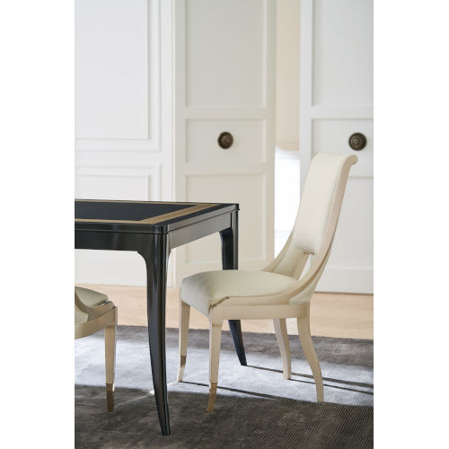 Classic Beige In Good Taste Dining Chair Armless Chair