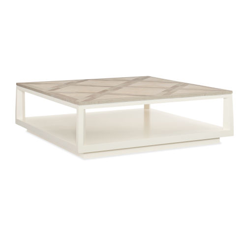 Classic Beige Work of Art Cocktail Table