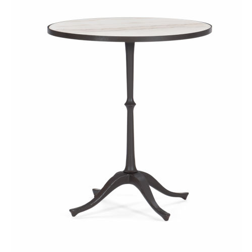 Classic Brown Around the Circle Accent Table