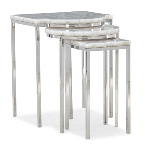 Classic Silver Trifecta End Table