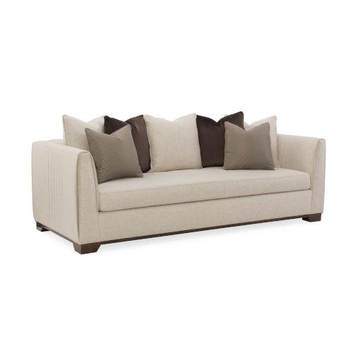 Modern Streamline Beige Sofa