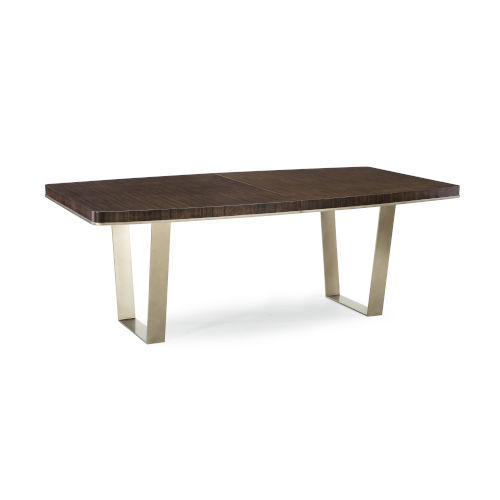 Modern Streamline Brown Streamline Dining Table