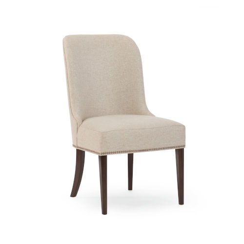 Modern Streamline Beige Streamline Side Dining Chair