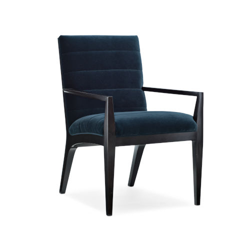 Modern Edge Upholstered Arm Chair in Black