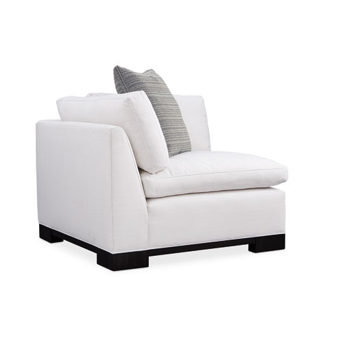 Black Stained Ash and White Refresh Corner Sofa