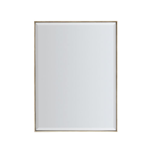 Bronze Gold Metal Rectangle Mirror