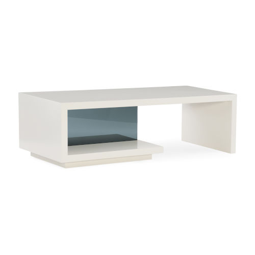 Modern Expressions White and Smoked Gray Cocktail Table
