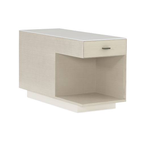 Modern Expressions Ash Taupe, Delicate Gray and Winter Haze End Table