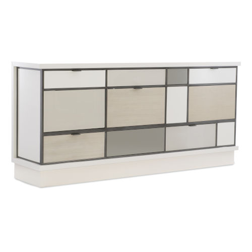 Modern Expressions Winter Haze, Mink Gray and Ash Taupe Buffet