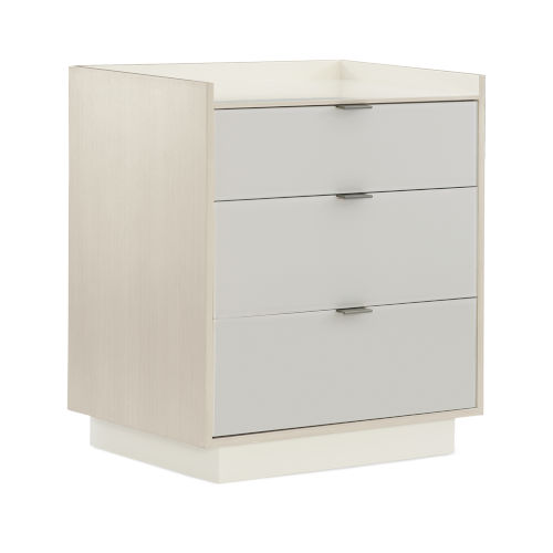 Modern Expressions Ash Taupe, Winter Haze and Delicate Gray Nightstand