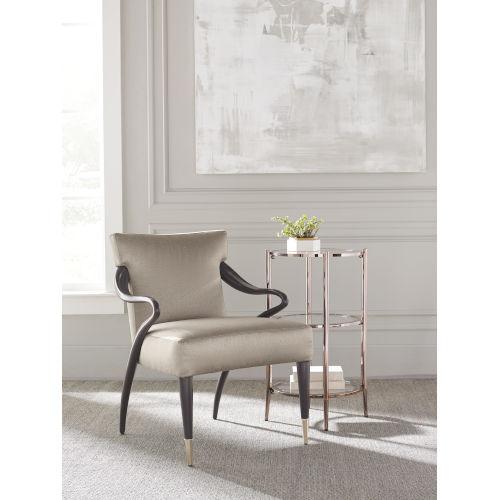 Classic Beige Swoosh Chair
