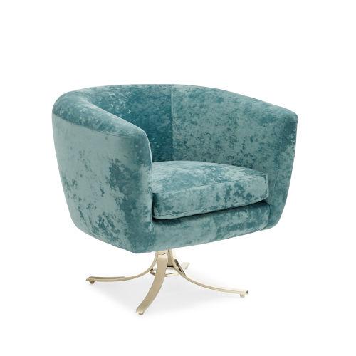 Classic Turquoise Twirl Around Chair