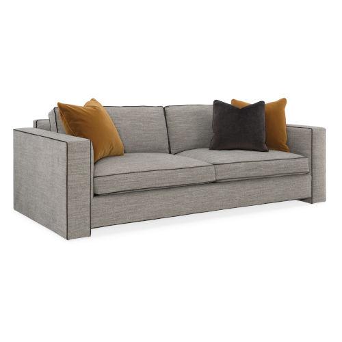 Classic Beige Welt Played Sofa