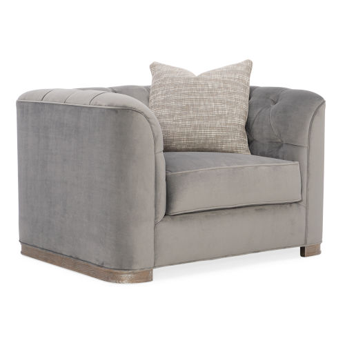 Classic Gray Tuft Guy Arm Chair