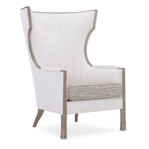 Classic Beige Wing Tip Arm Chair