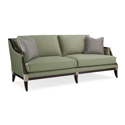 Classic Gray Empress Upholstered Sofa