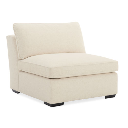 Classic Ivory Back On Track Armless Chair Sectional Sofa