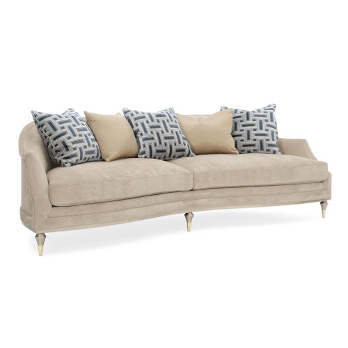 Caracole Classic Blush Taupe and Beige Living Large Sofa