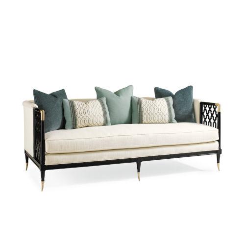 Classic Ivory Lattice Entertain You Sofa