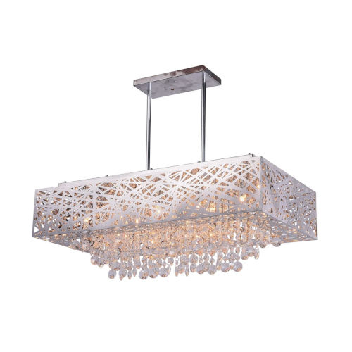 Eternity Chrome 12-Light 31-Inch Chandelier with K9 Clear Crystal