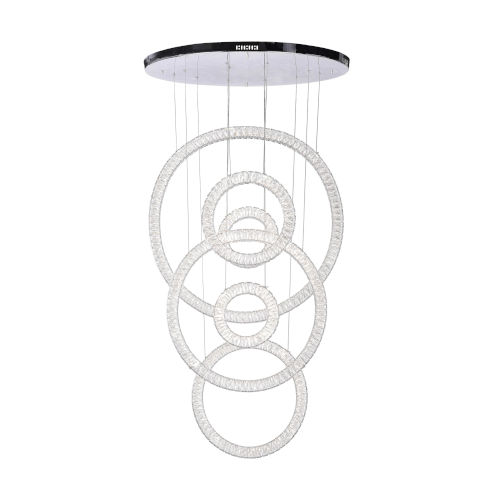 Celina Chrome Integrated LED 58-Inch Mini Chandelier with K9 Clear Crystal