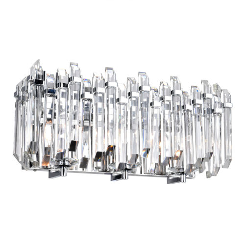 Henrietta Chrome Three-Light Wall Sconce with K9 Clear Crystals
