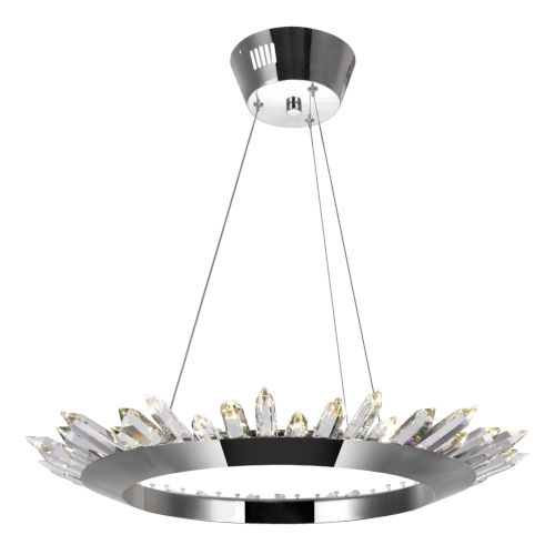Arctic Queen Polished Nickel 24-Inch LED Chandelier