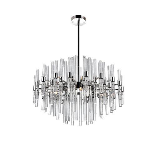 Miroir Polished Nickel 10-Light Chandelier