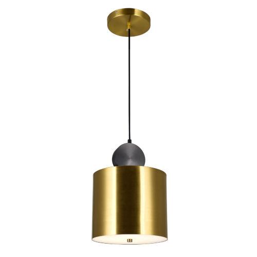 Saleen Brass Black Nine-Inch LED Mini Pendant