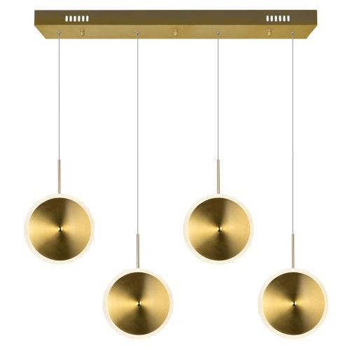 Ovni Brass Four-Light LED Chandelier