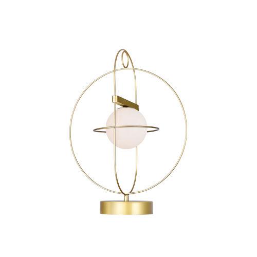 Orbit Medallion Gold 18-Inch LED Table Lamp