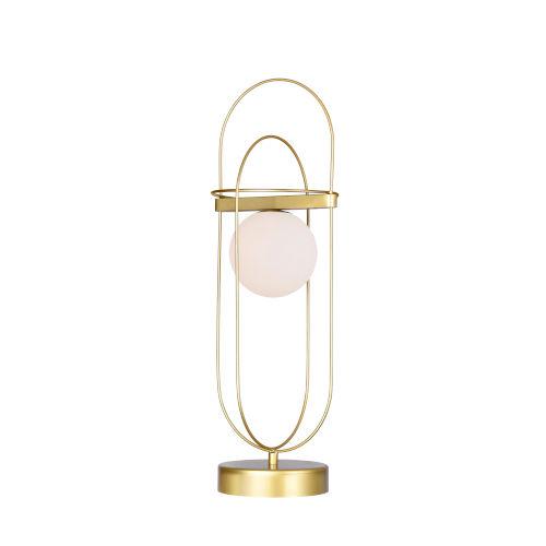 Orbit Medallion Gold 22-Inch LED Table Lamp