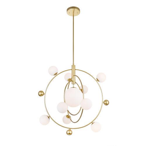 Celeste Medallion Gold 11-Light LED Chandelier