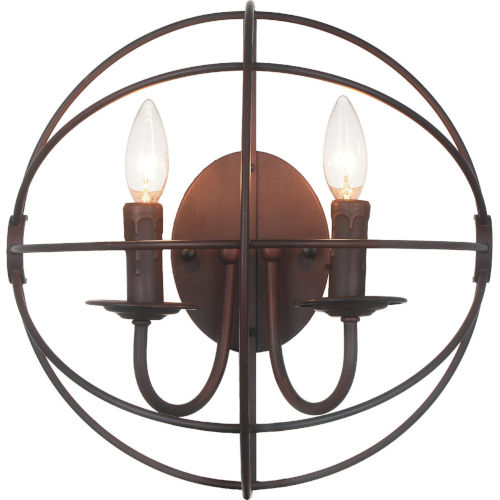 Arza Brown Two-Light Wall Sconce