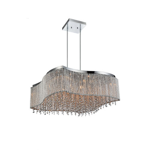 Claire Chrome 16-Light Chandelier with K9 Clear Crystal