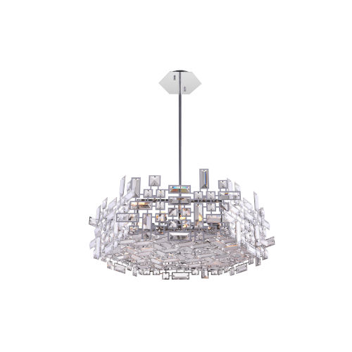 Arley Chrome 12-Light 24-Inch Chandelier with K9 Clear Crystal