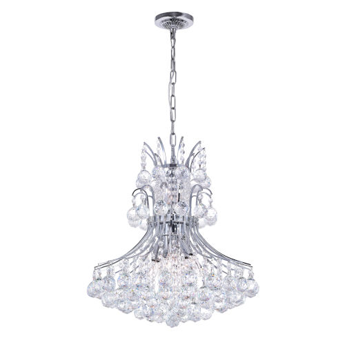 Princess Chrome Eight-Light Chandelier with K9 Clear Crystal
