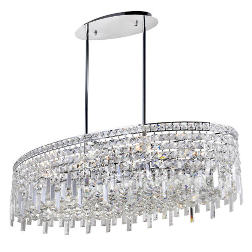 Colosseum Chrome 10-Light 36-Inch Chandelier with K9 Clear Crystal