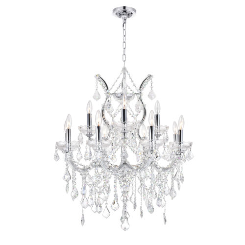 Maria Theresa Chrome 13-Light Chandelier with K9 Clear Crystal