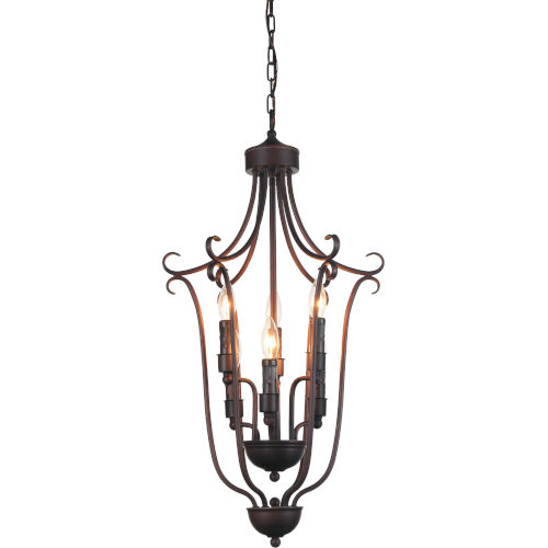 Maddy Oil Rubbed Brown Six-Light Chandelier