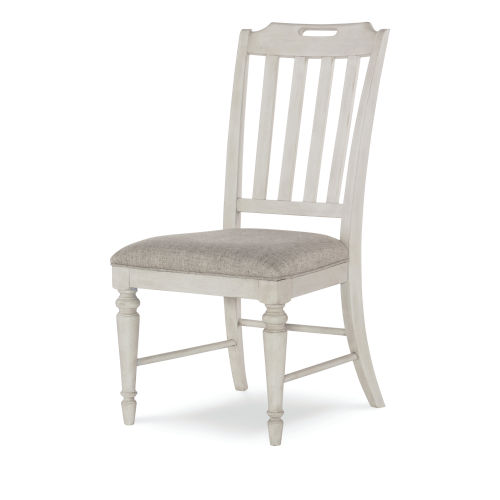Brookhaven Vintage Linen Rustic Dark Elm Side Chair, Set of Two