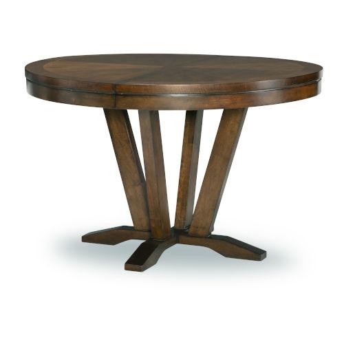 Highland Saddle Brown Pedestal Table