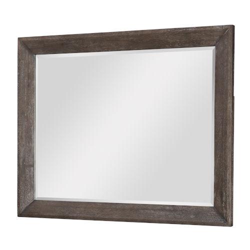 Facets Mink with Silver Undertones Bedroom Mirror